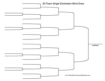 Blind Draw 20 Team Single Elimination Bracket