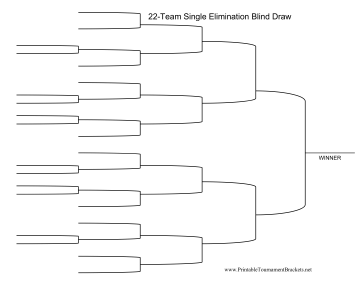 Blind Draw 22 Team Single Elimination Bracket