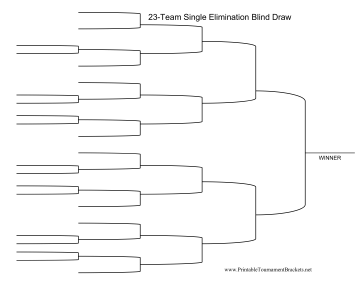 Blind Draw 23 Team Single Elimination Bracket