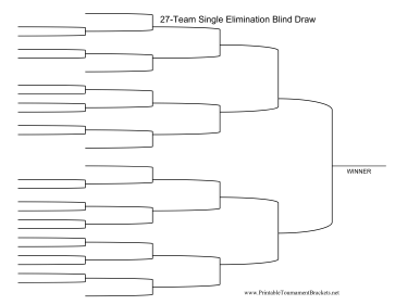 Blind Draw 27 Team Single Elimination Bracket